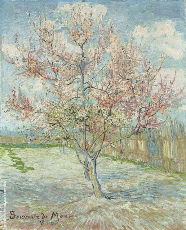 Pink Peach Trees 1888 By Vincent van Gogh