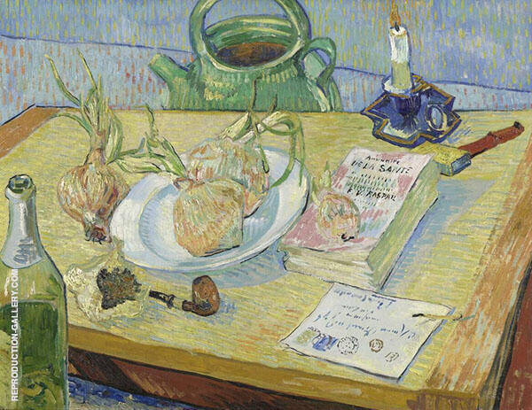Still Life with a Plate of Onions 1888 Painting By Vincent van Gogh