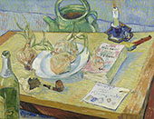 Still Life with a Plate of Onions 1888 By Vincent van Gogh
