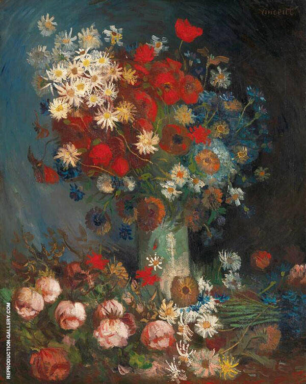Still Life with Meadow Flowers and Roses 1887 Painting By Vincent van Gogh