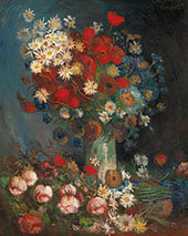 Still Life with Meadow Flowers and Roses 1887 By Vincent van Gogh