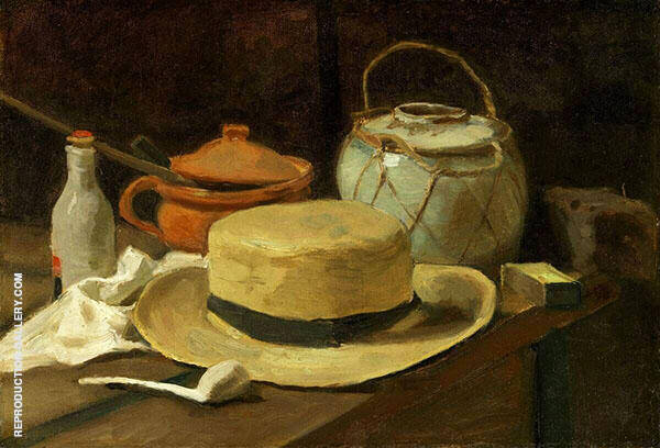 Still Life with Straw Hat 1881 Painting By Vincent van Gogh