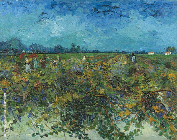 The Green Vineyard 1888 By Vincent van Gogh