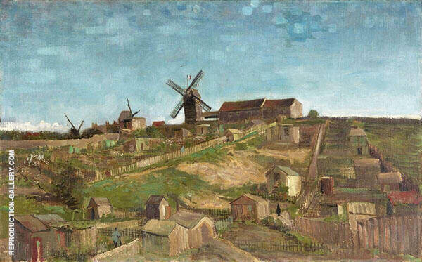 The Hill of Montmartre 1886 Painting By Vincent van Gogh