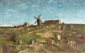 The Hill of Montmartre 1886 By Vincent van Gogh