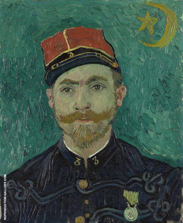 The Lover Portrait of Lieutenant Milliet 1888 By Vincent van Gogh