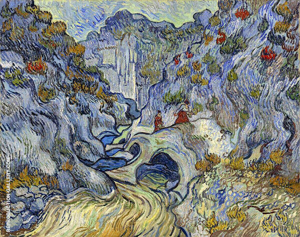 The Ravine Les Peiroulets 1889 Painting By Vincent van Gogh