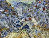 The Ravine Les Peiroulets 1889 By Vincent van Gogh
