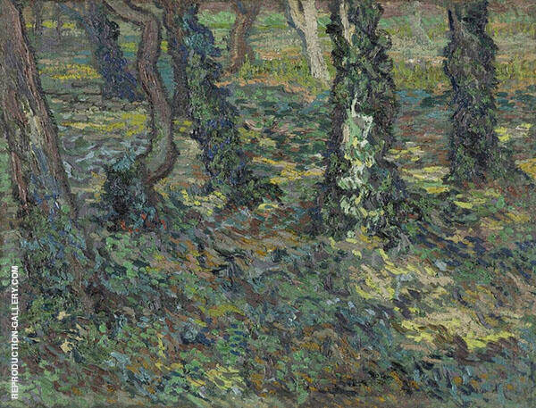 Tree Trunks with Ivy 1889 By Vincent van Gogh