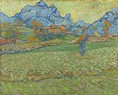 Wheat Fields in a Mountainous Landscape 1889 By Vincent van Gogh