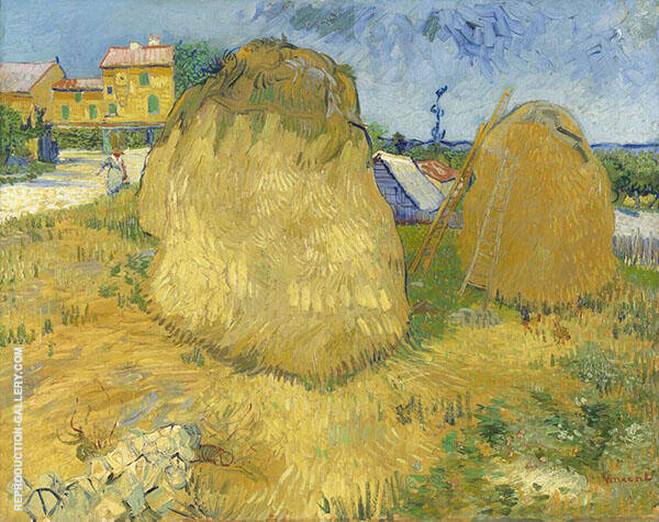 Wheat Stacks in Provence 1888 By Vincent van Gogh
