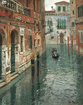 The Canal in Venice By Frits Thaulow