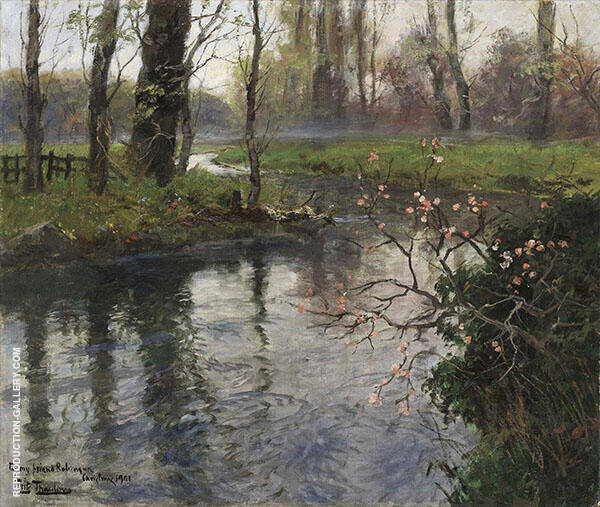 A Stream in Spring By Frits Thaulow