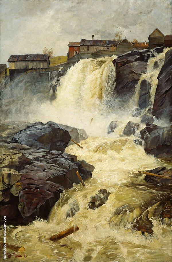 Haugfossen by Modum 1883 By Frits Thaulow