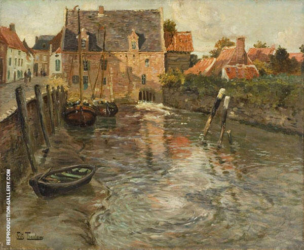 Low Water By Frits Thaulow