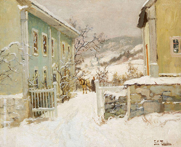 Norwegian Clergy House By Frits Thaulow