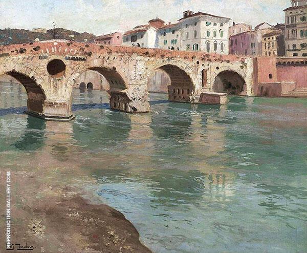 Ponte Pietra Verona Fritz Thaulow By Frits Thaulow