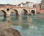 Ponte Pietra Verona By Frits Thaulow