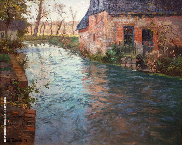 River in Normandy 1894 By Frits Thaulow
