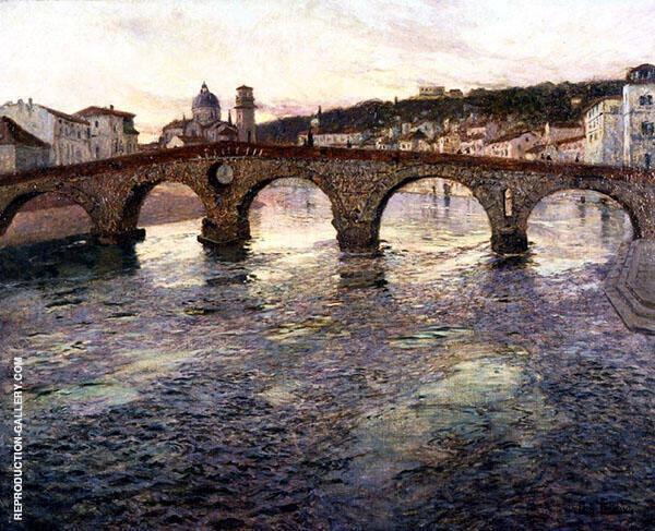 The Adige River at Verona c1894 By Frits Thaulow