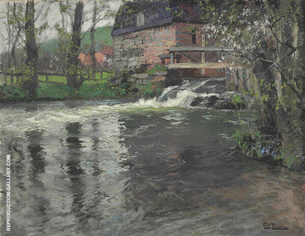 The Cascade By Frits Thaulow