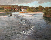 The Dordogne River at Beaulieu c1905 By Frits Thaulow