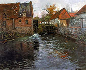 The Mill Pond By Frits Thaulow