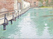 The Mills at Montreuil sur Mer Normandy 1894 By Frits Thaulow