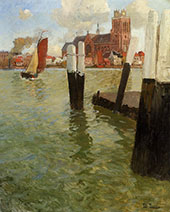 The Pier Dordrecht By Frits Thaulow