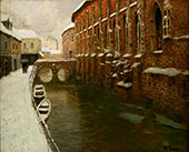 Winter in Amiens 1904 By Frits Thaulow