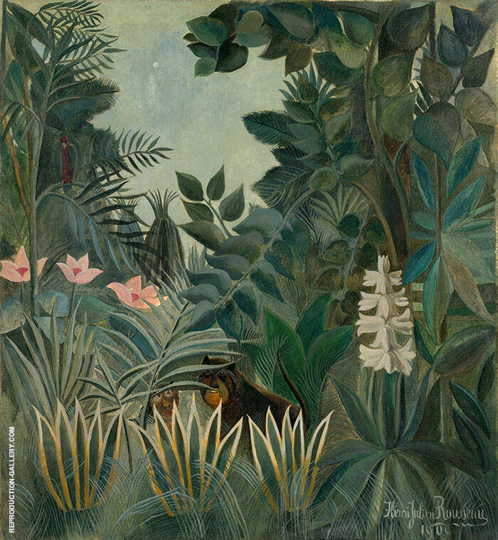 Equatorial Jungle 1909 By Henri Rousseau