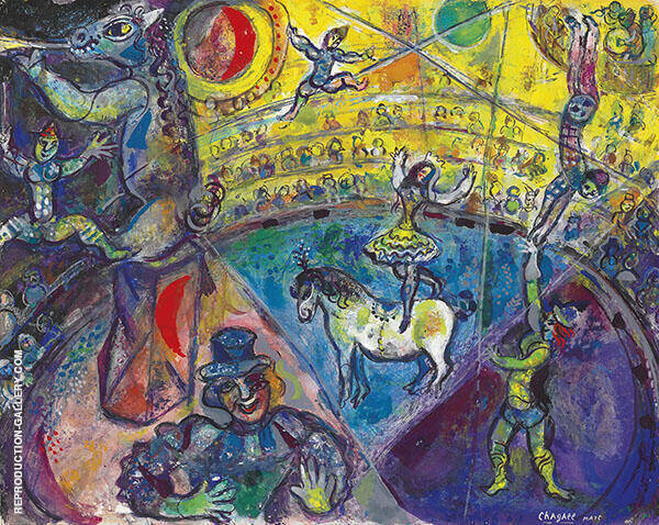 The Circus Horse Painting By Marc Chagall - Reproduction Gallery