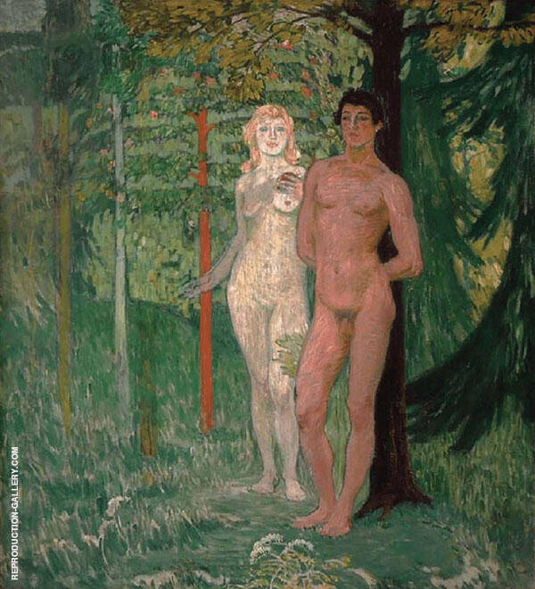 Adam and Eve 1908 Painting By Jan Preisler - Reproduction Gallery