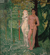 Adam and Eve 1908 By Jan Preisler