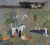 Composition with White Horse By Jan Preisler