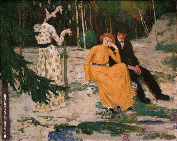 Lovers Painting By Jan Preisler - Reproduction Gallery