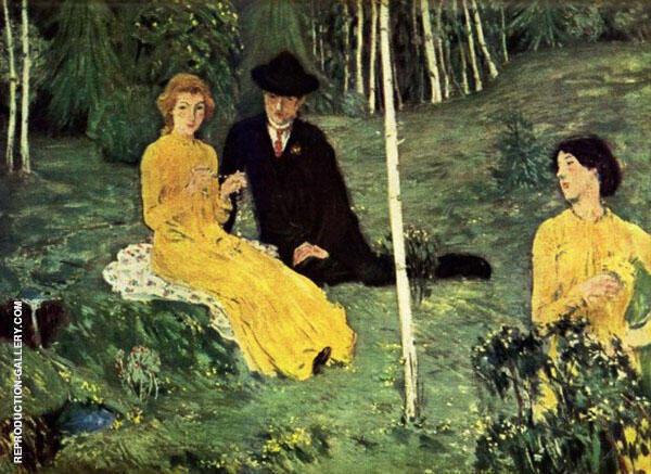 Lovers 1908 Painting By Jan Preisler - Reproduction Gallery