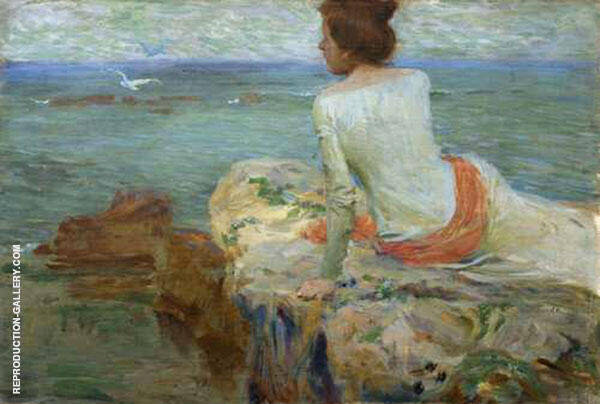 Sea with a Figure in The Foreground 1902 By Jan Preisler