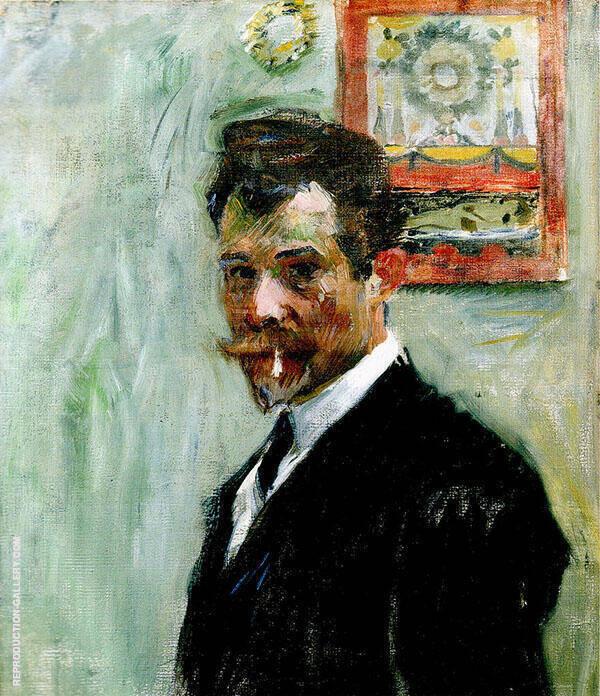 Self Portrait Painting By Jan Preisler - Reproduction Gallery