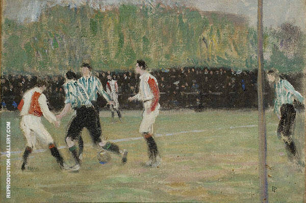 Soccer Match 1906 Painting By Jan Preisler - Reproduction Gallery