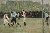 Soccer Match 1906 By Jan Preisler