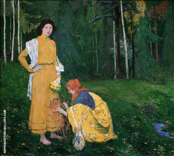 Spring Painting By Jan Preisler - Reproduction Gallery