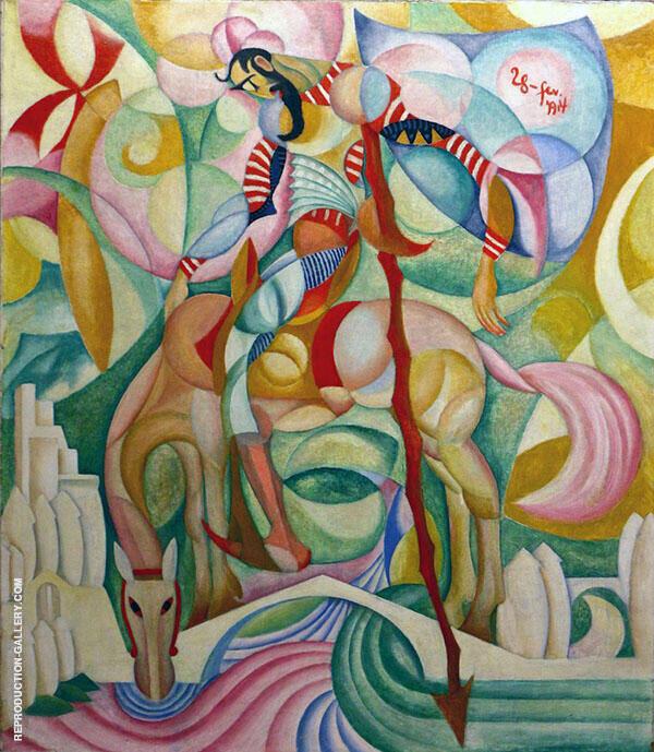 Don Quixote 1914 By Amadeo de Souza Cardoso