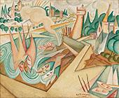 Landscape 1912 By Amadeo de Souza Cardoso