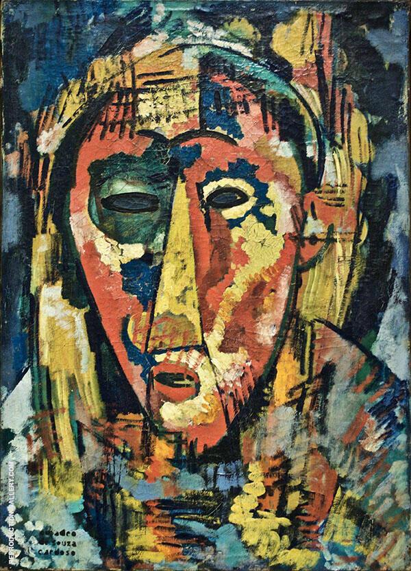 The Green Eye Mask Head c1915 By Amadeo de Souza Cardoso