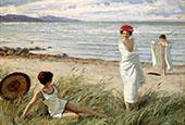 After The Swim At Hornbaek Beach Denmark By Paul Gustav Fischer
