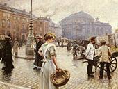 A View of Kongens Nytorv Copenhagen By Paul Gustav Fischer