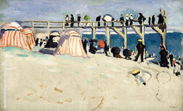 The Boardwalk Sainte Adresse Painting By Albert Marquet