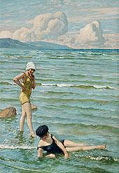 Bathing Girls By Paul Gustav Fischer