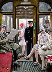 Copenhagen Tram By Paul Gustav Fischer